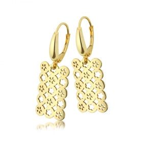 Kolczyki złote - Flowers
