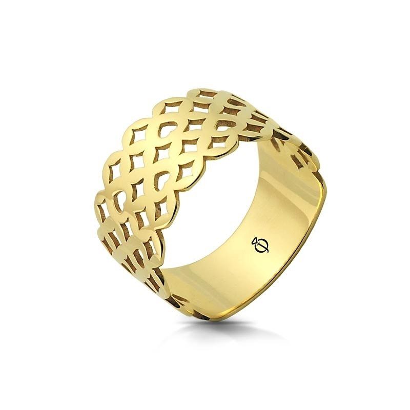 Pierścionek złoty - Caro