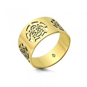 Pierścionek złoty - Ornament Style