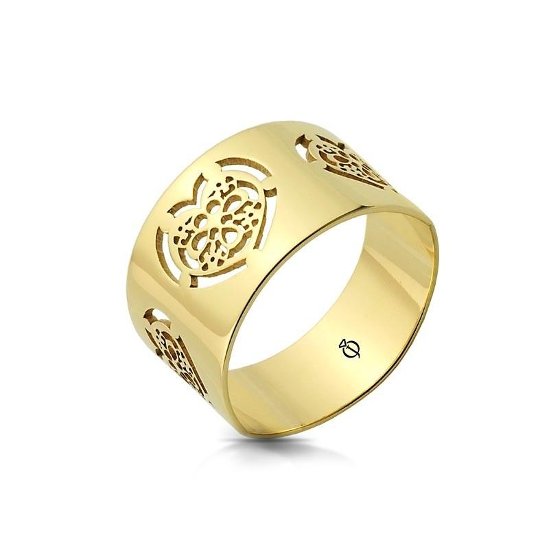 Pierścionek złoty - Heart Ornament