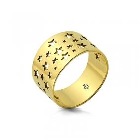 Pierścionek złoty - Star