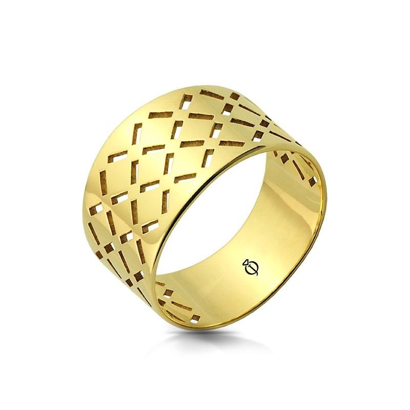 Pierścionek złoty - Farfalla