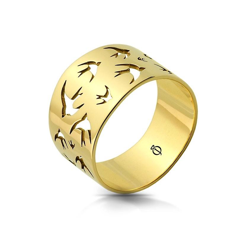 Pierścionek złoty - Swallow