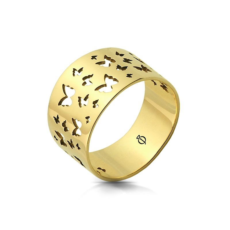 Pierścionek złoty - Butterfly