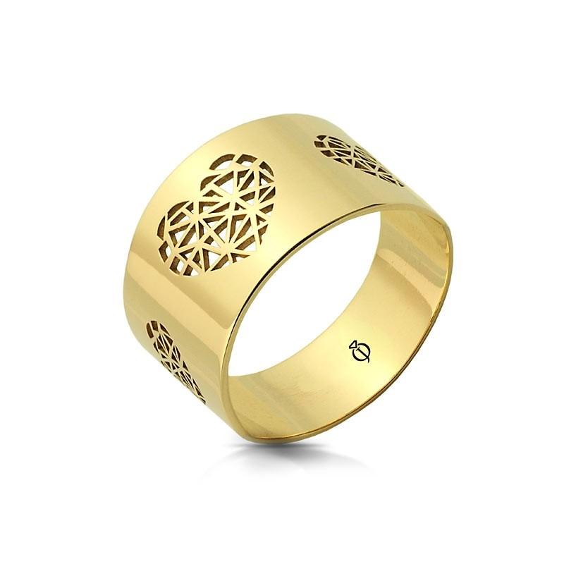 Pierścionek złoty - Origami Style