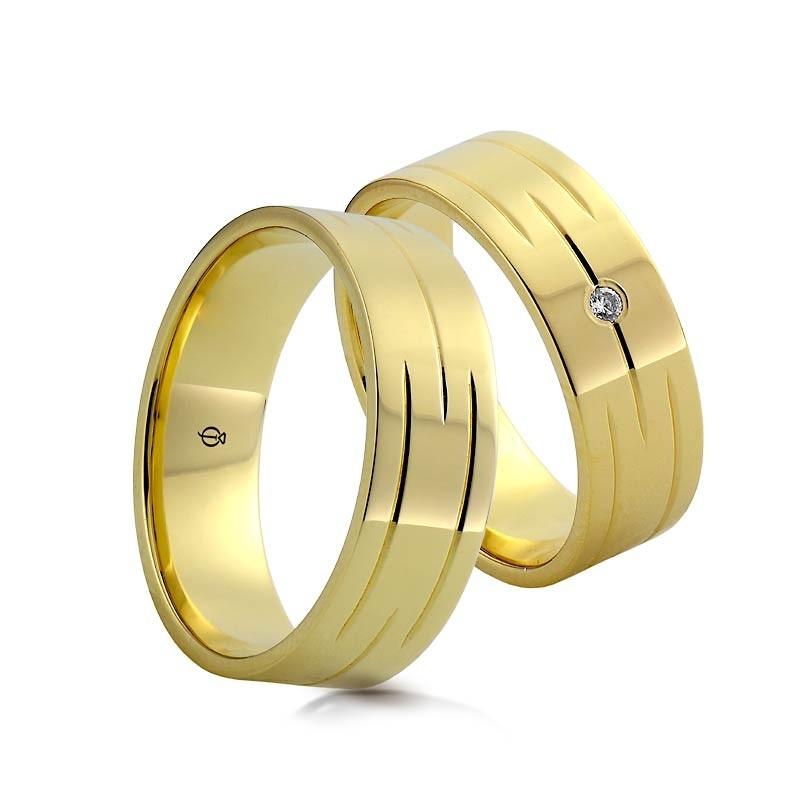 Złote obrączki N712