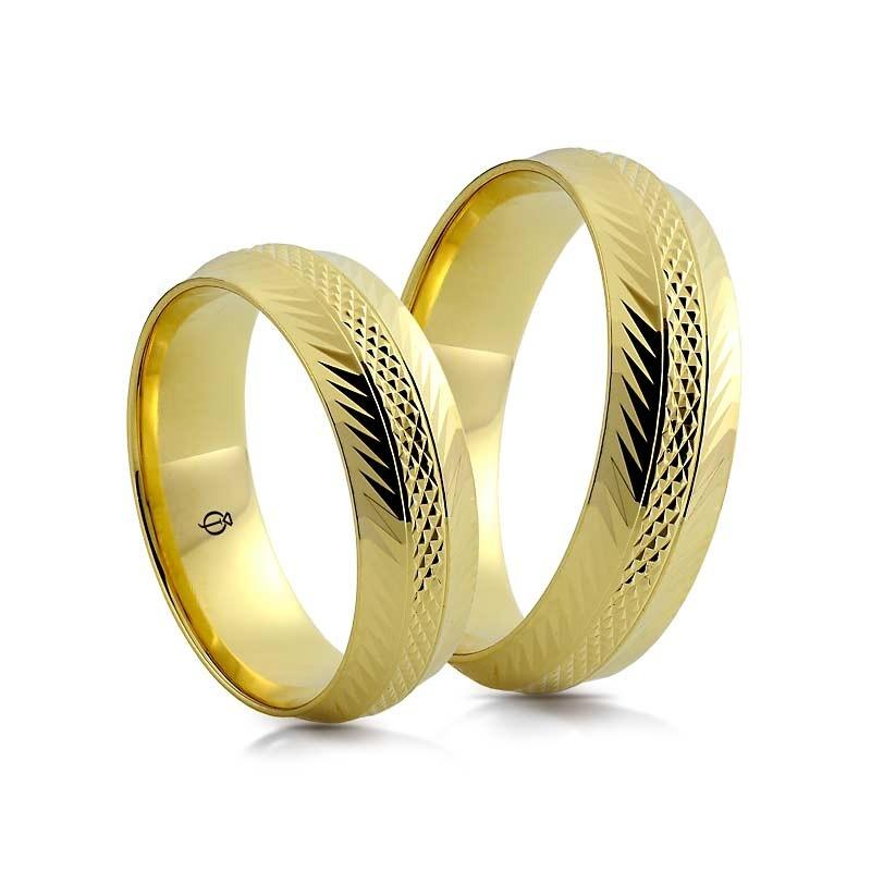 Złote obrączki N6106
