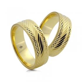 Złote obrączki N7330