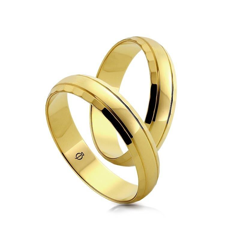 Złote obrączki O8