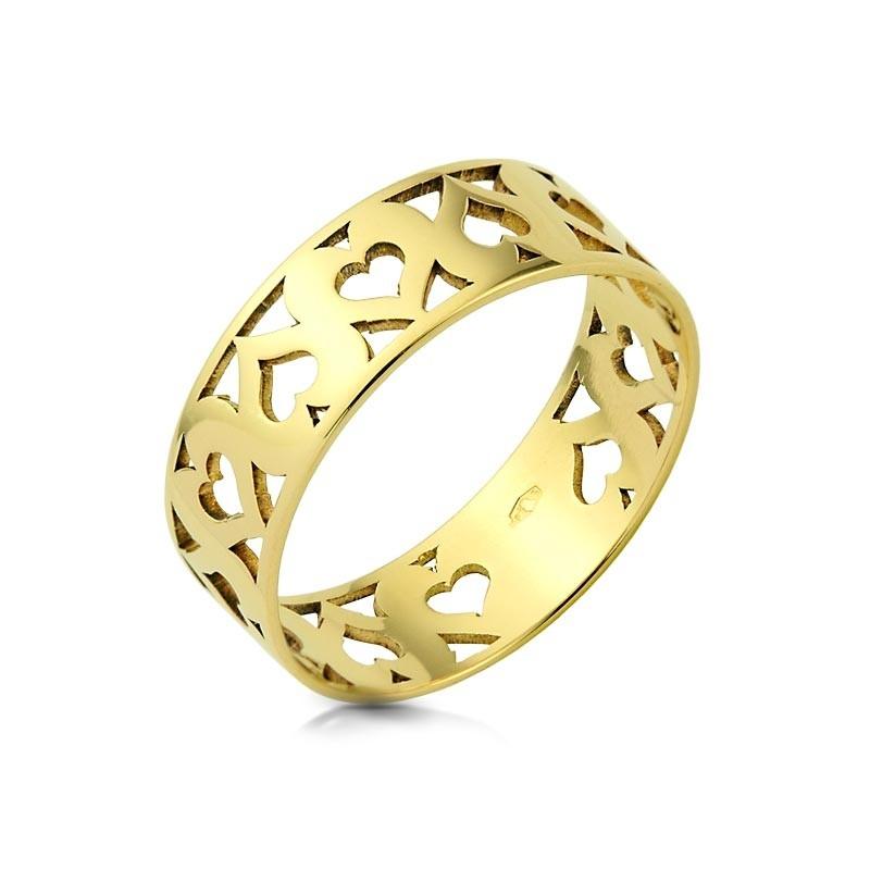 Obrączka złota - Heart