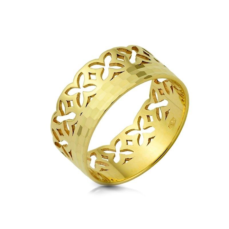 Obrączka złota - Diamant Trefle