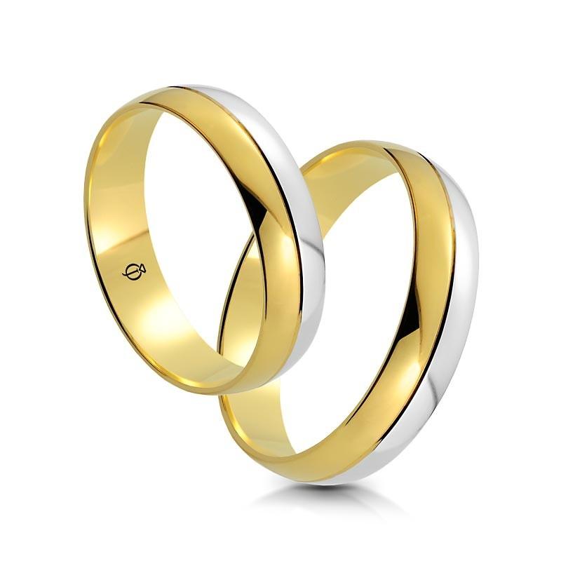 Złote obrączki A201