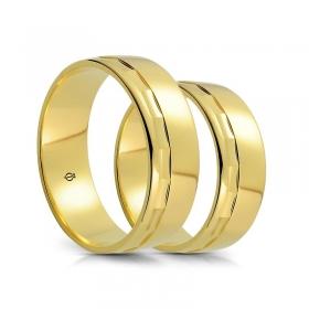 Złote obrączki A7501