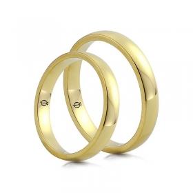 Złote obrączki Classico Secondo 3mm - 6mm