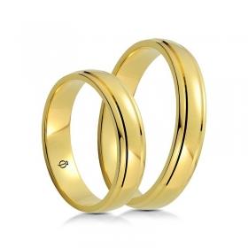Złote obrączki B4501