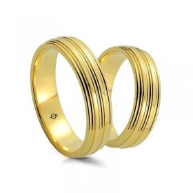 Złote obrączki B5501