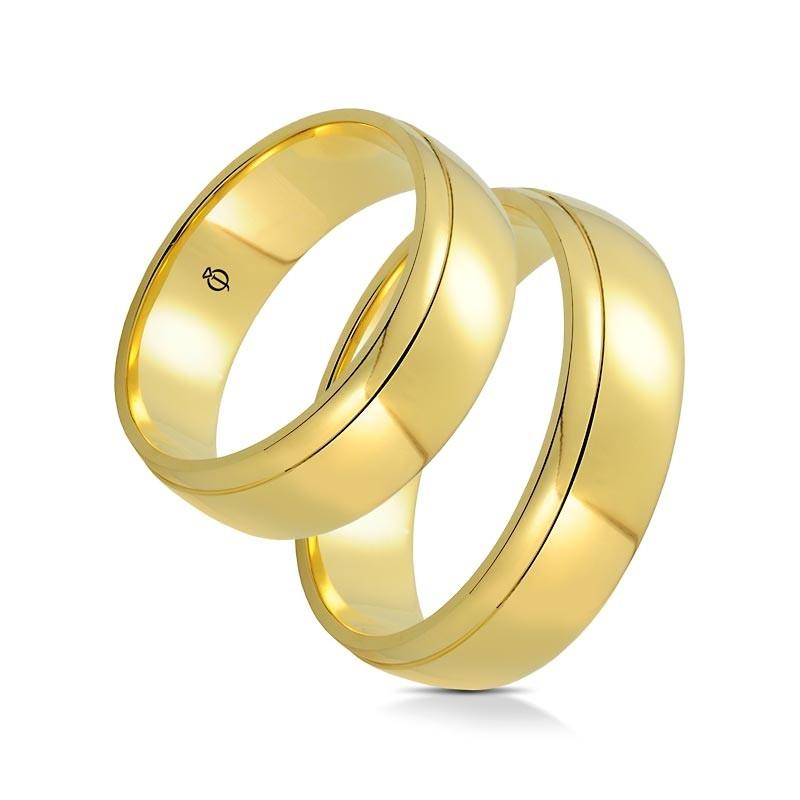 Złote obrączki B6501