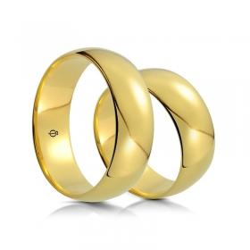Złote Obrączki Classico Terzo 8.5mm Zółte Złoto