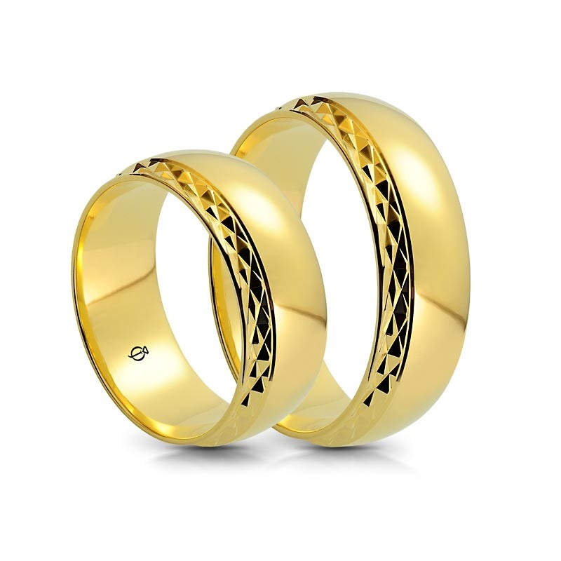 Złote obrączki C7501