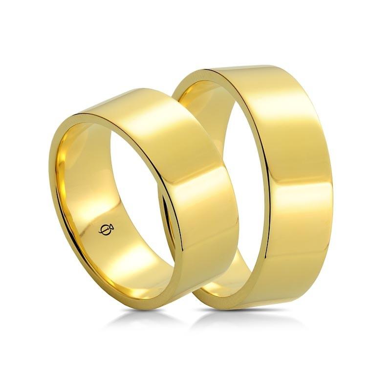 Złote Obrączki Classico Piatto 8mm Żółte Złoto