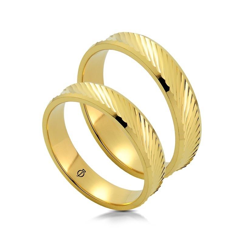 Złote obrączki P5003