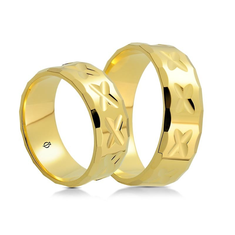 Złote obrączki P7502