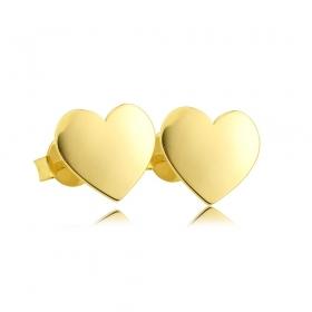 Kolczyki złote - Heart
