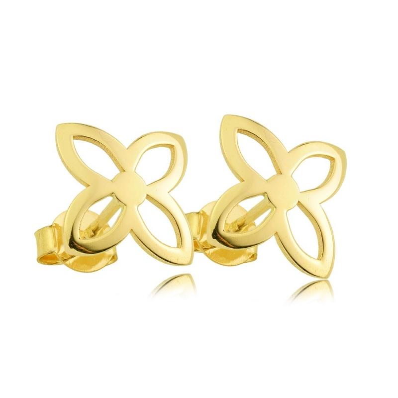 Kolczyki złote - Trefle