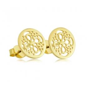 Kolczyki złote -  Ornament Style