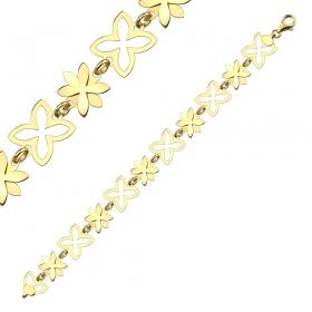 Bransoleta złota - Trefle