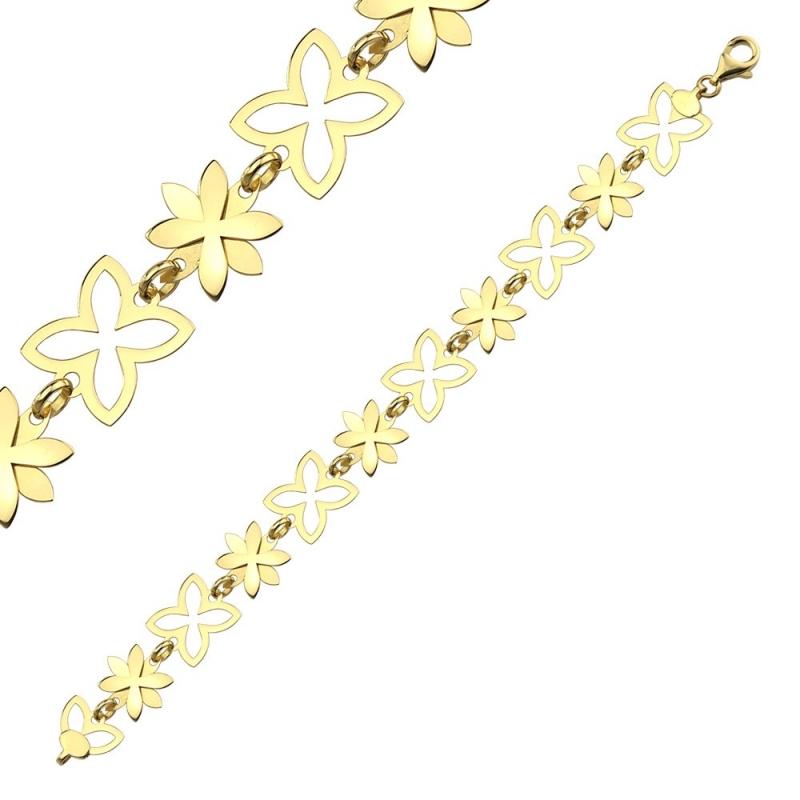 Bransoleta złota Trefle