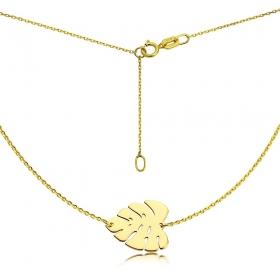 Naszyjnik złoty Liść Monstery