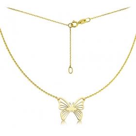 Naszyjnik złoty Motyl Filigran