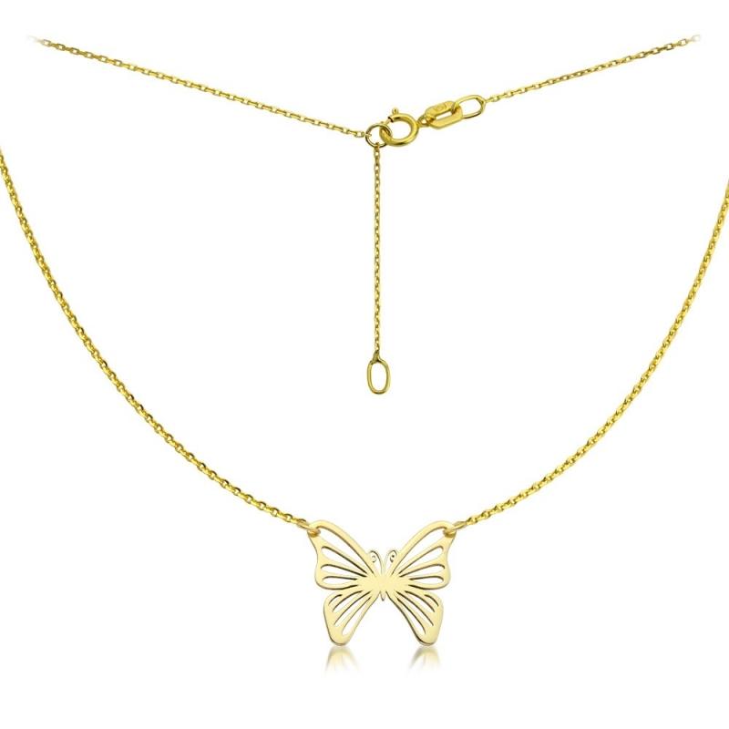 Celebrytka złota - Butterfly