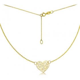 Celebrytka złota - Origami Heart