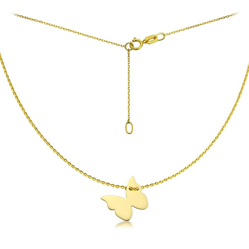 Naszyjnik złoty motyl