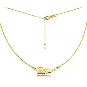 Naszyjnik złoty skrzydło anioła