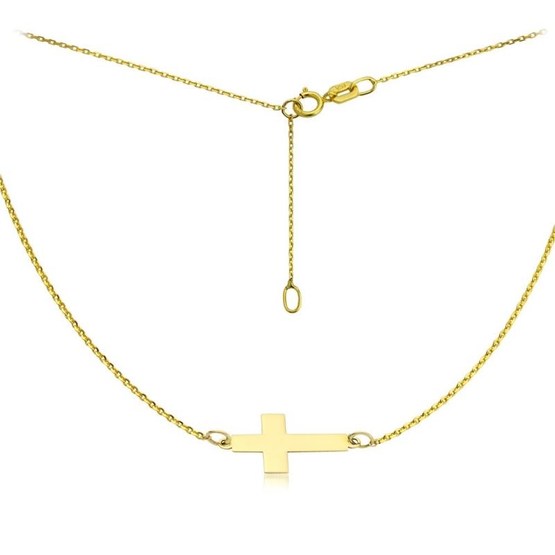 Celebrytka złota - Krzyżyk