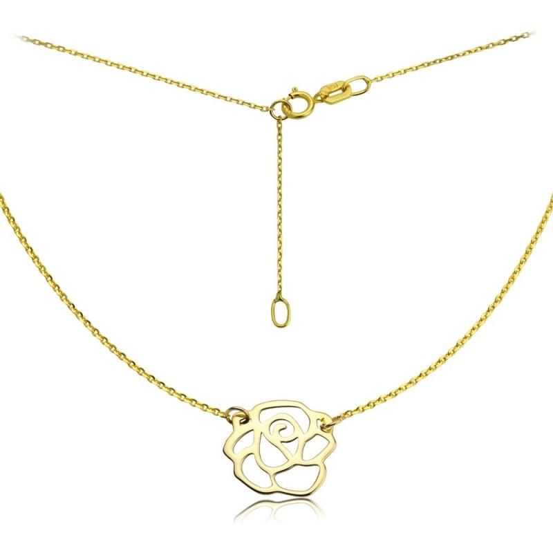 Naszyjnik złoty Różą