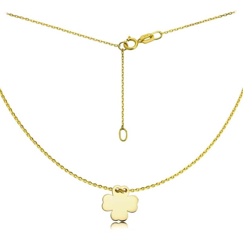 Naszyjnik złoty Koniczynka