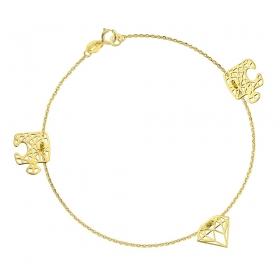 Bransoletka złota - Origami