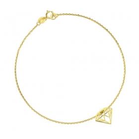 Bransoletka złota - Diamante