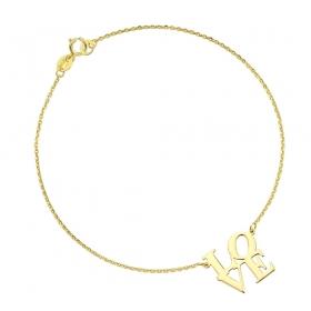Bransoletka złota - LOVE