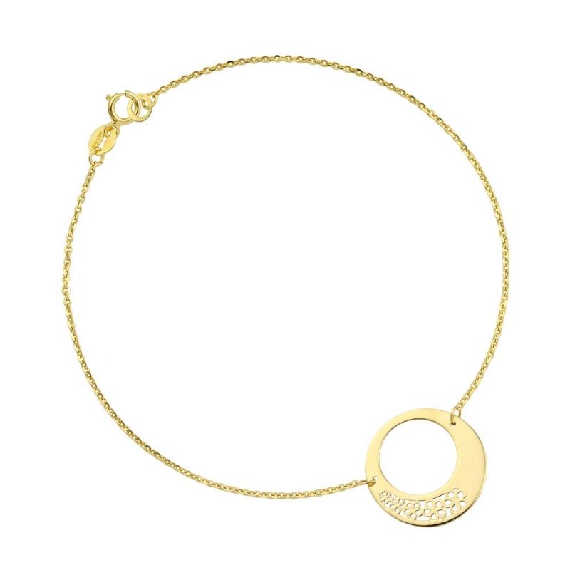 Bransoletka złota - Flower Style