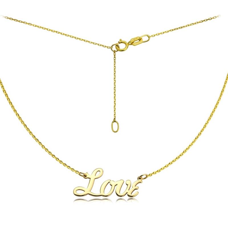 Naszyjnik złoty Love