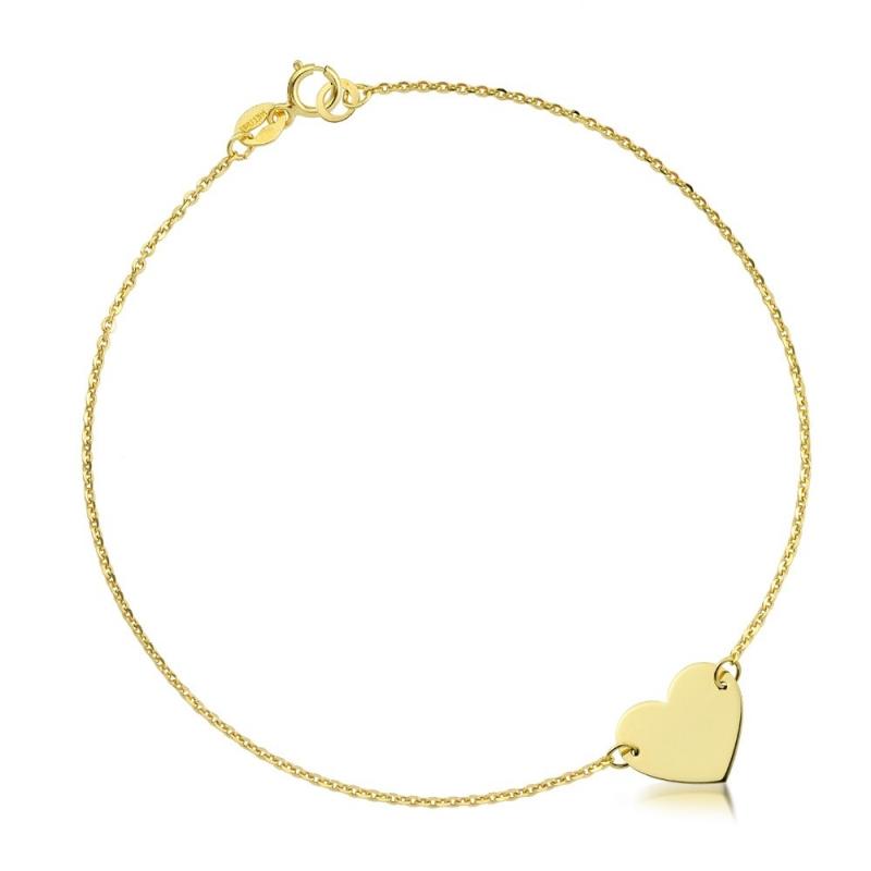 Bransoletka złota - Heart