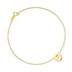 Bransoletka złota - Tiny Flower