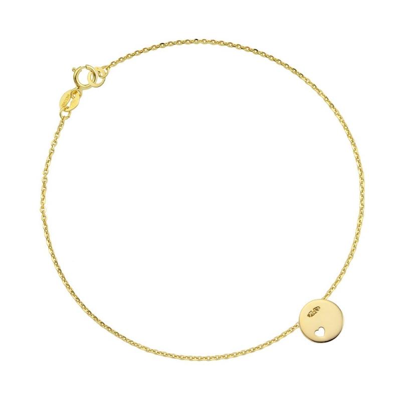 Bransoletka złota - Litlle Heart