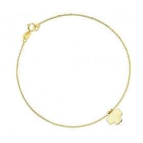 Bransoletka złota - Clover