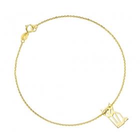 Bransoletka złota - Kot Origami